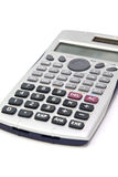 Calculating. It is a small calculator on a background Stock Images
