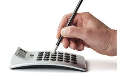 Calculating Royalty Free Stock Photo