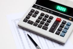 Calculating Stock Images