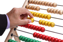 Calculating with an abacus Stock Photos