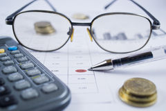 Calculating the Accounts Stock Images