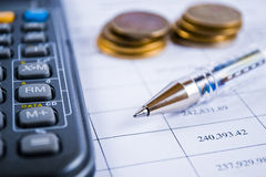 Calculating the Accounts Stock Photo