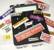 calculating besparingar arkivfoton