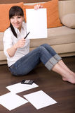 Calculating bills Stock Photos
