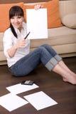 Calculating bills Stock Photos