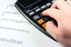 Calculating  Bills Royalty Free Stock Photo