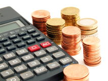 Calculating the Budget Stock Images