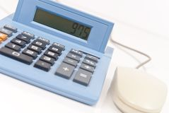 Calculating (CA Tax on Screen) Royalty Free Stock Photography