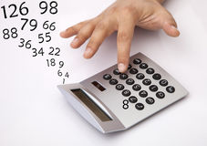 Calculating Stock Image