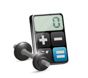 Calculating calories loss concept Royalty Free Stock Images