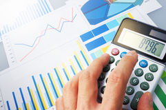 Calculating. Royalty Free Stock Photography