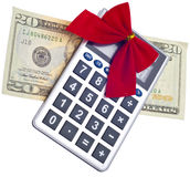 Calculating the Cost of the Holidays Stock Photo