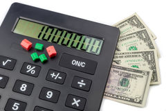 Calculating cost of living Stock Photo