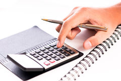 Calculating costs Royalty Free Stock Photo