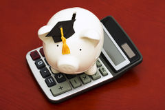 Calculating Education Savings Stock Image