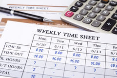 Calculating employee working time royalty free stock photography