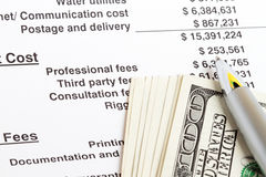 Calculating expenses Royalty Free Stock Photography