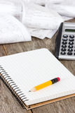 Calculating expenses Royalty Free Stock Photos