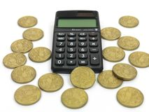 Calculating Finance Royalty Free Stock Images