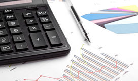 Calculating finances Stock Image