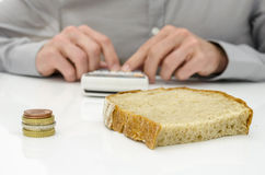 Calculating food costs Stock Photography