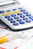 Calculating a house Royalty Free Stock Photo