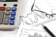 calculating inkomst Royaltyfri Bild