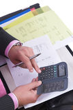 calculating kostnader arkivbild
