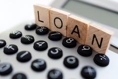 Calculating loan repayments stock image