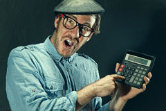 Calculating man Royalty Free Stock Image