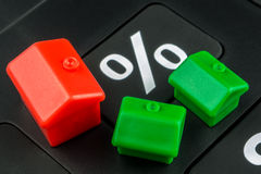 Calculating mortgage interest rate Royalty Free Stock Image