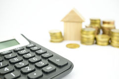 Calculating personal finances Royalty Free Stock Photos