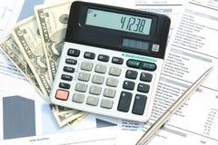 Calculating profit Royalty Free Stock Photos