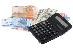 Calculating revenues Stock Image