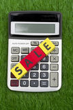 Calculating Sale Stock Photography