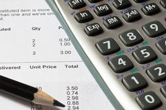 Calculating sales Stock Photography
