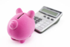 Calculating savings Stock Photos