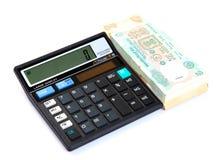 Calculating savings Royalty Free Stock Photo
