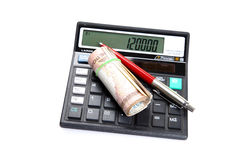 Calculating savings Stock Image
