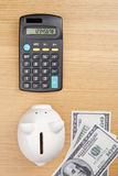 Calculating savings Stock Images