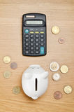 Calculating savings Royalty Free Stock Image