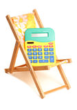 Calculating summer holiday finances Stock Photography