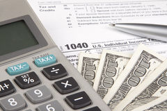 Calculating Tax Stock Image