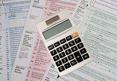 Calculating Taxes Stock Photo