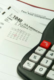 Calculating Taxes Royalty Free Stock Image