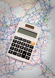Calculating Trip Plan Stock Photos