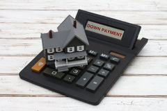 Calculating your down payment Stock Image
