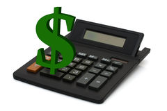 Calculating your finances Royalty Free Stock Images