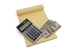 Calculating your money situation Royalty Free Stock Photos