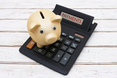 Calculating your payments Royalty Free Stock Photo